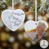 2-Sided Your Wings Personalized Heart Ornament - 19551-2
