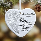 1-Sided Your Wings Personalized Heart Ornament - 19551-1