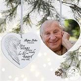 2-Sided Your Wings Personalized Heart Ornament-Large - 19551-2L