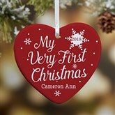 1-Sided My Very First Christmas Personalized Baby Ornament - 19552-1
