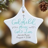 1-Sided God's Love Personalized Godchild Ornament - 19560-1