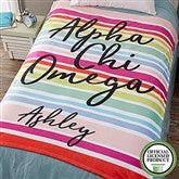 Alpha Chi Omega Personalized 60x80 Fleece Blanket - 19596-L