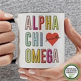 Alpha Chi Omega Personalized Coffee Mug 11 oz.- Black - 19599-B