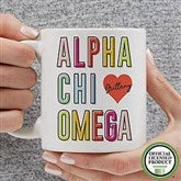 Alpha Chi Omega Personalized Coffee Mug 11 oz.- White - 19599-S