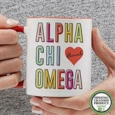 Alpha Chi Omega Personalized Coffee Mug 11 oz.- Red - 19599-R