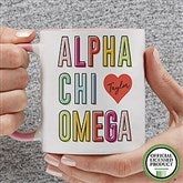 Alpha Chi Omega Personalized Coffee Mug 11 oz.- Pink - 19599-P