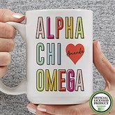Alpha Chi Omega Personalized Coffee Mug 15 oz.- White - 19599-L