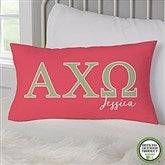 Alpha Chi Omega Personalized Lumbar Throw Pillow - 19600-LB