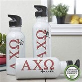 Alpha Chi Omega Personalized Water Bottle - 19608