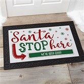 Santa Stop Here Personalized Doormat- 20x35 - 19650-M