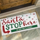 Santa Stop Here Personalized Oversized Doormat- 24x48 - 19650-O
