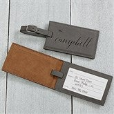 Wedded Bliss Personalized Bag Tag- Charcoal - 19653-G