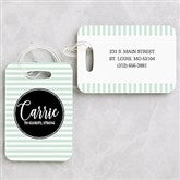 Name Meaning Personalized Geometric Luggage Tag Set - 19657