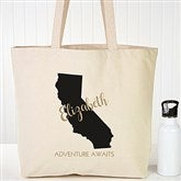 State Pride Personalized Canvas Tote - 19660