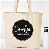 Name Meaning Personalized Geometric Canvas Tote Bag - 19663