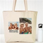 Two Photo Personalized Canvas Tote - 19665-2
