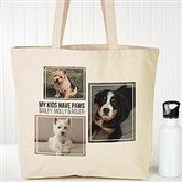 Three Photo Personalized Canvas Tote - 19665-3
