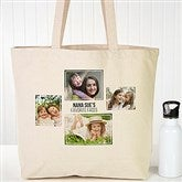 Four Photo Personalized Canvas Tote - 19665-4
