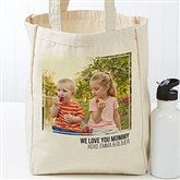 Photo Personalized Petite Canvas Tote Bag - 19666-1