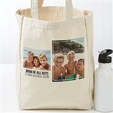 Two Photo Personalized Petite Canvas Tote Bag - 19666-2
