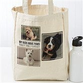 Three Photo Personalized Petite Canvas Tote Bag - 19666-3