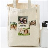 Four Photo Personalized Petite Canvas Tote Bag - 19666-4
