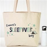 Boys Sleepover Personalized Tote Bag - 19673