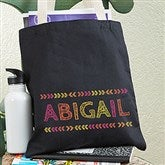 Stencil Name Personalized Tote Bag For Girls - 19674