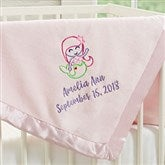 Lovable Characters Embroidered Pink Baby Girl Blanket - 19683-P