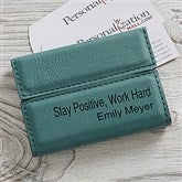Signature Series Personalized Business Card Case- Teal - 19686-T