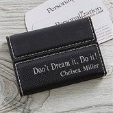 Signature Series Personalized Business Card Case- Black - 19686-B