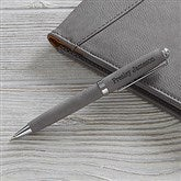 Signature Series Personalized Leatherette Pen-Charcoal - 19688-C