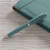 Signature Series Personalized Leatherette Pen-Teal - 19688-T