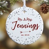 1-Sided Sparkling Love Personalized Ornament- Small - 19690-1