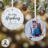 2-Sided Sparkling Love Personalized Ornament- Small - 19690-2