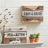 Romantic Arrows Personalized Reclaimed Wood Wall Art - 8x6 - 19697-8x6
