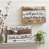 Romantic Arrows Personalized Reclaimed Wood Wall Art - 12 x 8 - 19697-12x8