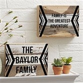 Adventure Awaits Personalized Reclaimed Wood Wall Art - 8x6 - 19698-8x6