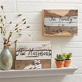Family Story Personalized Reclaimed Wood Sign - 8x6 - 19699-8x6