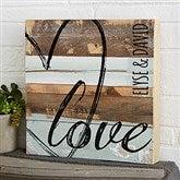 LOVE Reclaimed Wood Wall Art - 12x12 - 19700-12x12