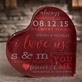 I Love Us Personalized Colored Heart Keepsake - 19739