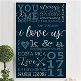I Love Us Personalized Canvas Art Print- 24
