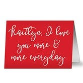 Write Your Own Romantic Expressions Personalized Greeting Card - 19753