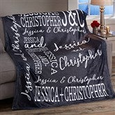 Couple In Love Personalized 50x60 Fleece Blanket - 19756
