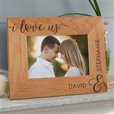 I Love Us Forever Personalized Picture Frame- 4 x 6 - 19783-S
