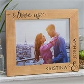 I Love Us Personalized Picture Frame- 8 x 10 - 19783-L
