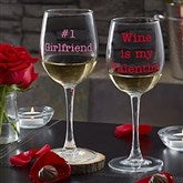 Sweet Drinks Personalized 12oz. White Wine Glass- Name - 19784-WN