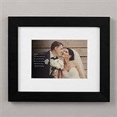 Wedding Sentiments Personalized Framed Photo Print - 8x10 - 19787-8x10
