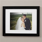 Wedding Sentiments Personalized Framed Photo Print - 11x14 - 19787-11x14