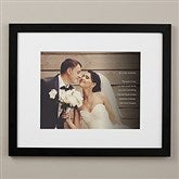 Wedding Sentiments Personalized Framed Photo Print - 16x20 - 19787-16x20